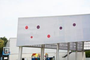Cubierta personalizada a medida Danpalon polideportivo colegio Galicia